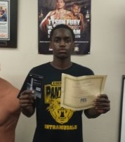 "Andre ""Mack Attack"" Mack was named the May ""Fighter Of The Month."" He received a certificate of achievement and a $50 gift certificate. Congratulations to Andre for his hard work and dedication."