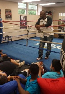"Simon ""One Punch"" Carr recently visited Greater Norristown PAL where he spoke to the boxing kids at the ""I Got Hands"" program."